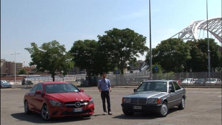 Mercedes CLA e Mercedes 190, prova-confronto [VIDEO]