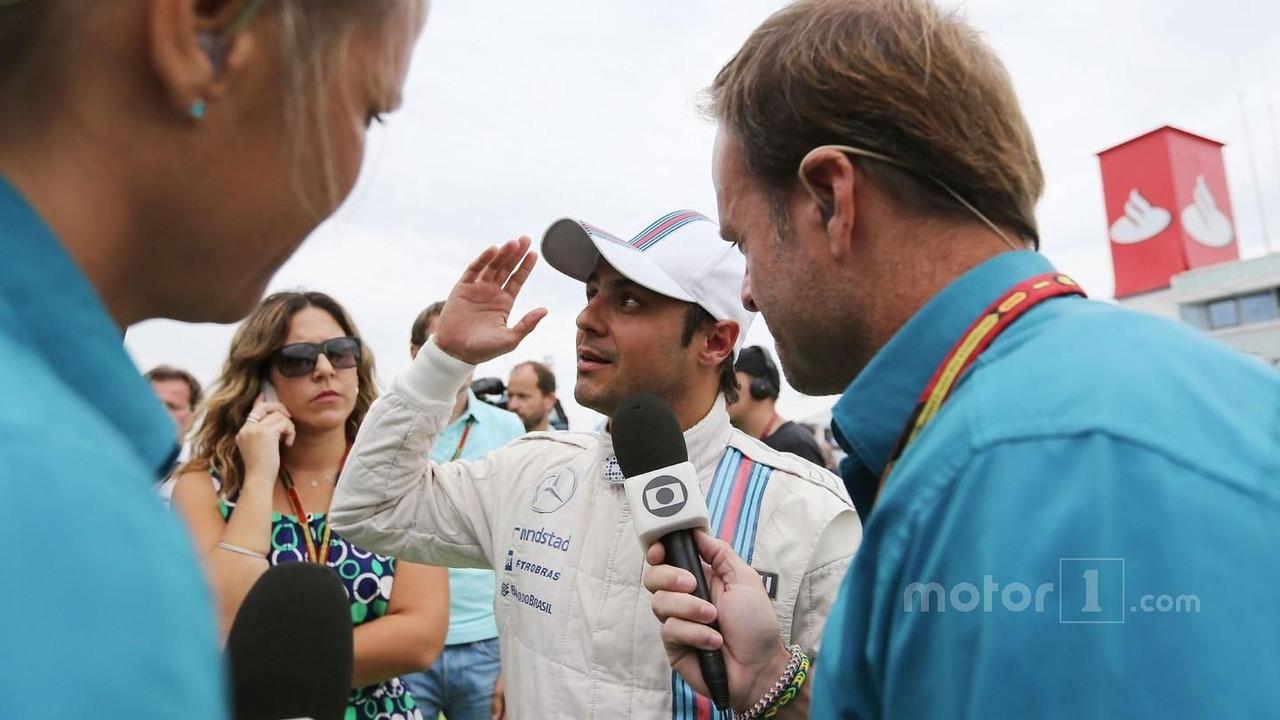 Bernie Ecclestone, on the grid with Rubens Barrichello