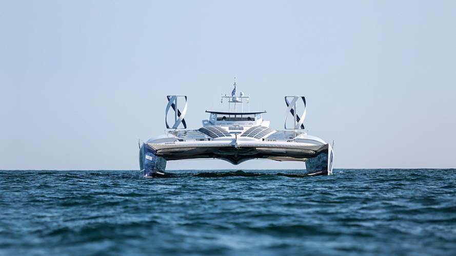 Así es el barco, patrocinado por Toyota, que se mueve con hidrógeno