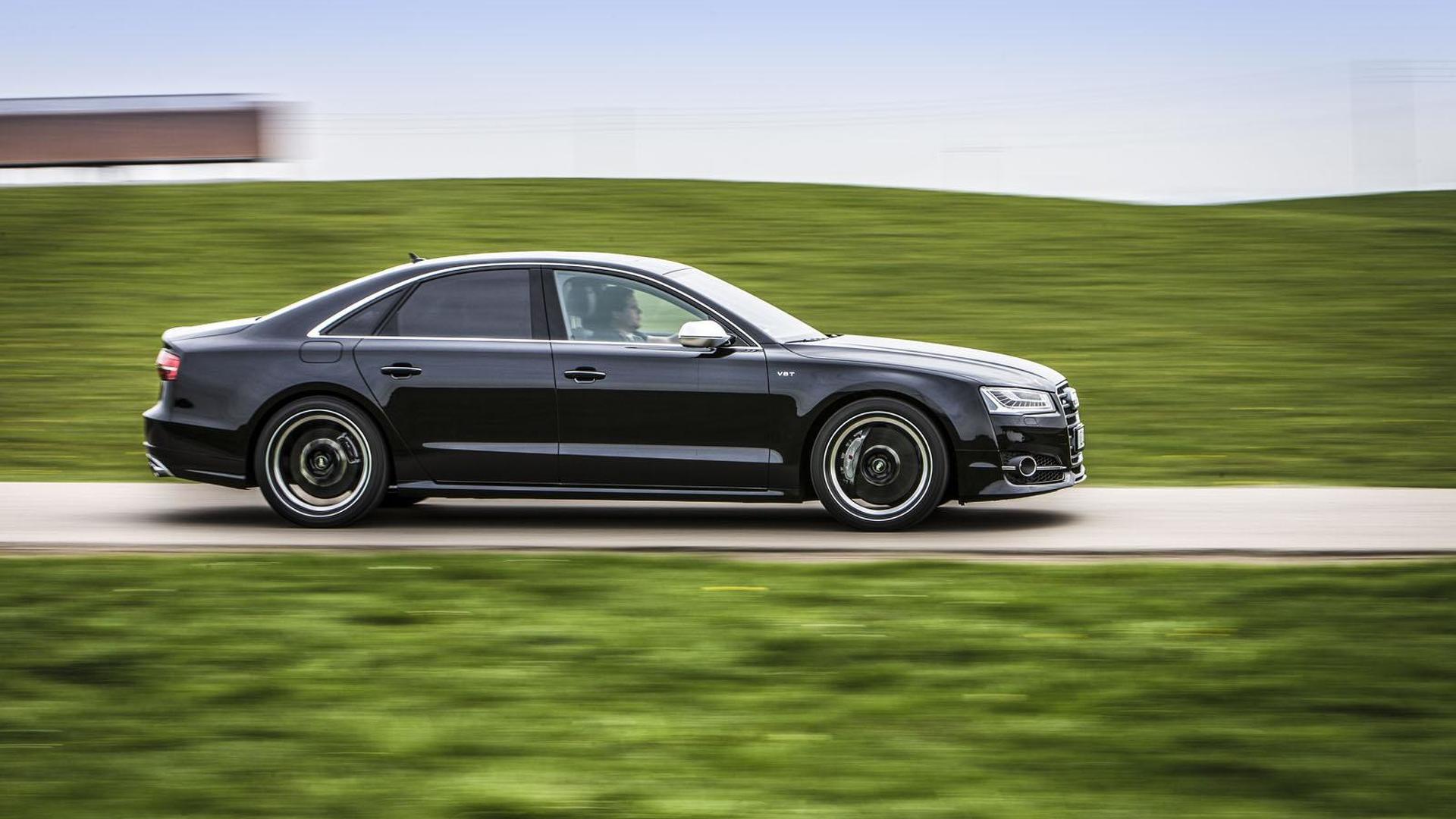 Чёрный седан Audi S8. Тюнинг от ABT Sportsline
