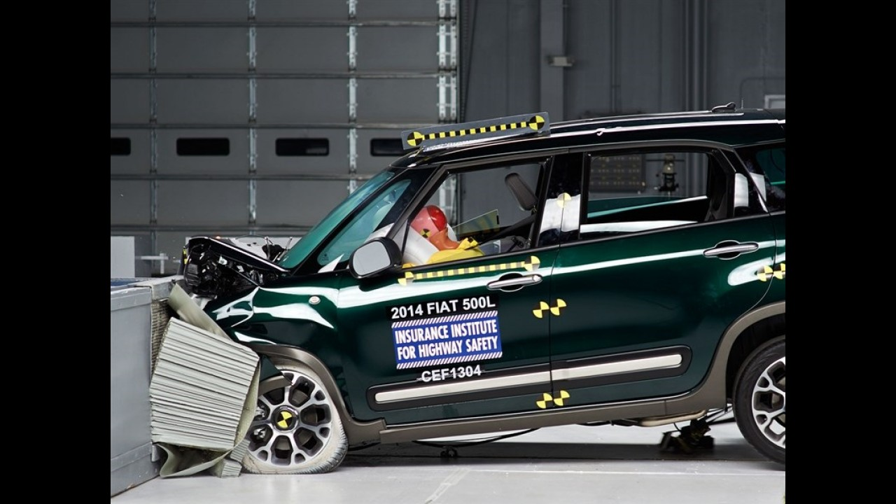 Fiat 500L passa vexame e decepciona nos testes de colisão do IIHS