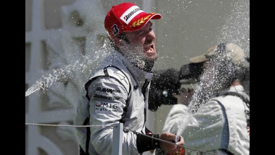 Fórmula 1: Barrichello novamente faz excelente corrida e vence o GP de Monza
