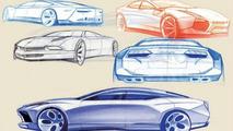 Lamborghini Estoque Concept design sketches