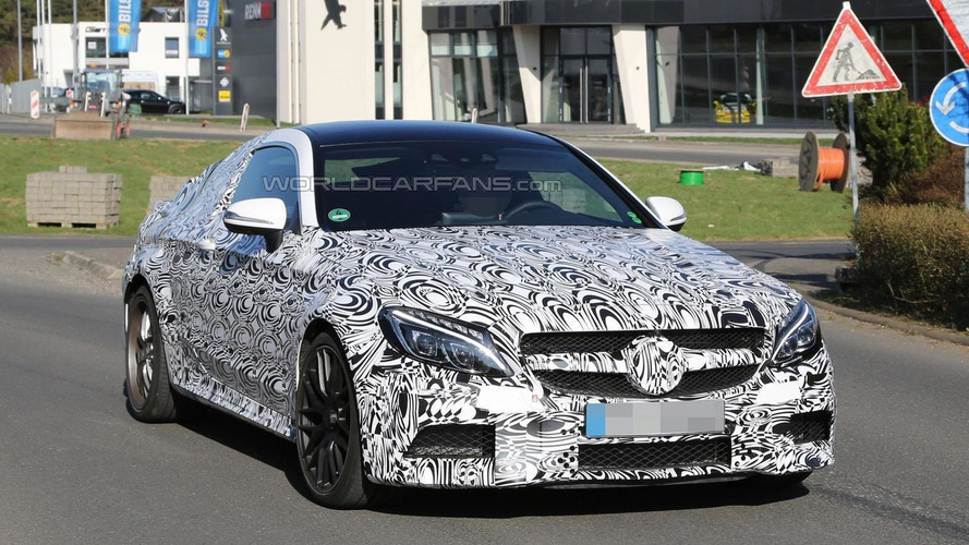 2016 Mercedes C63 AMG Coupe spied for the first time