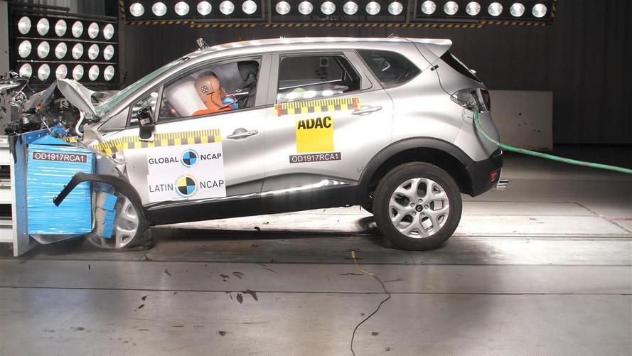 Renault Captur brasileiro conquista 4 estrelas em crash test