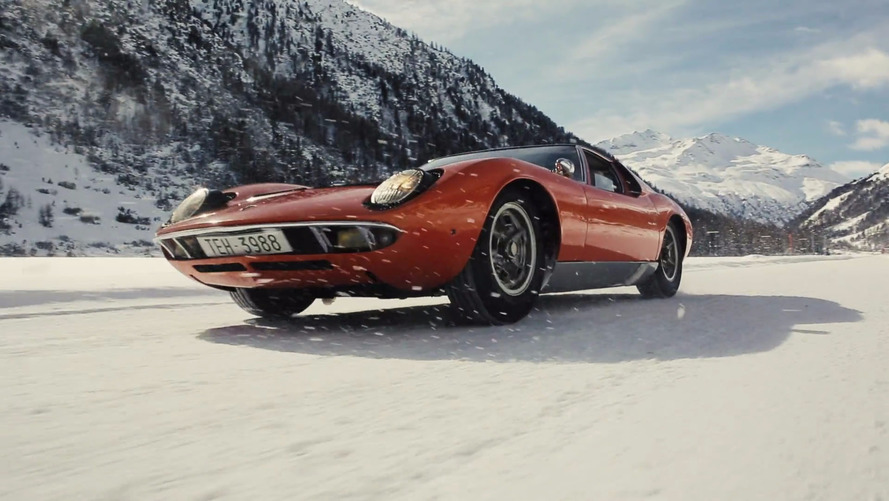 Watch A Lamborghini Miura Drift In The Snow