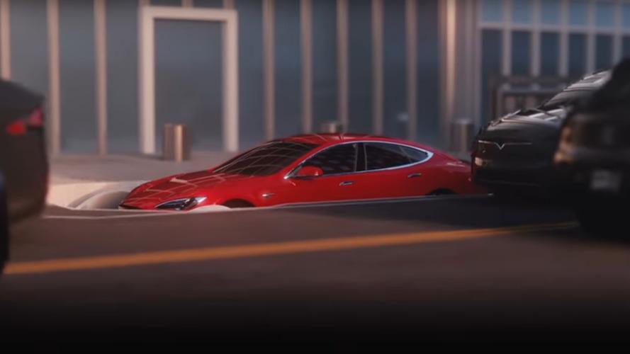 Watch Teslas Go Underground In Musk's 'The Boring Company