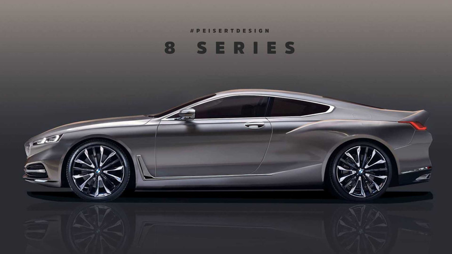 BMW 8 Series, M8 renders based on official teaser image