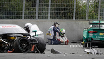 Mike Rockenfeller, Audi Sport Team Phoenix, Audi RS 5 DTM after the crash