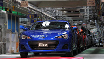 Subaru BRZ and Toyota GT86 production at Gunma factory in Ota-city, Japan 16.03.2012