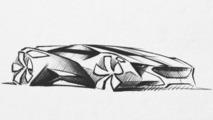 Peugeot supercar concept design sketch