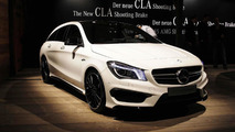 Mercedes-Benz CLA Shooting Brake returns in live images