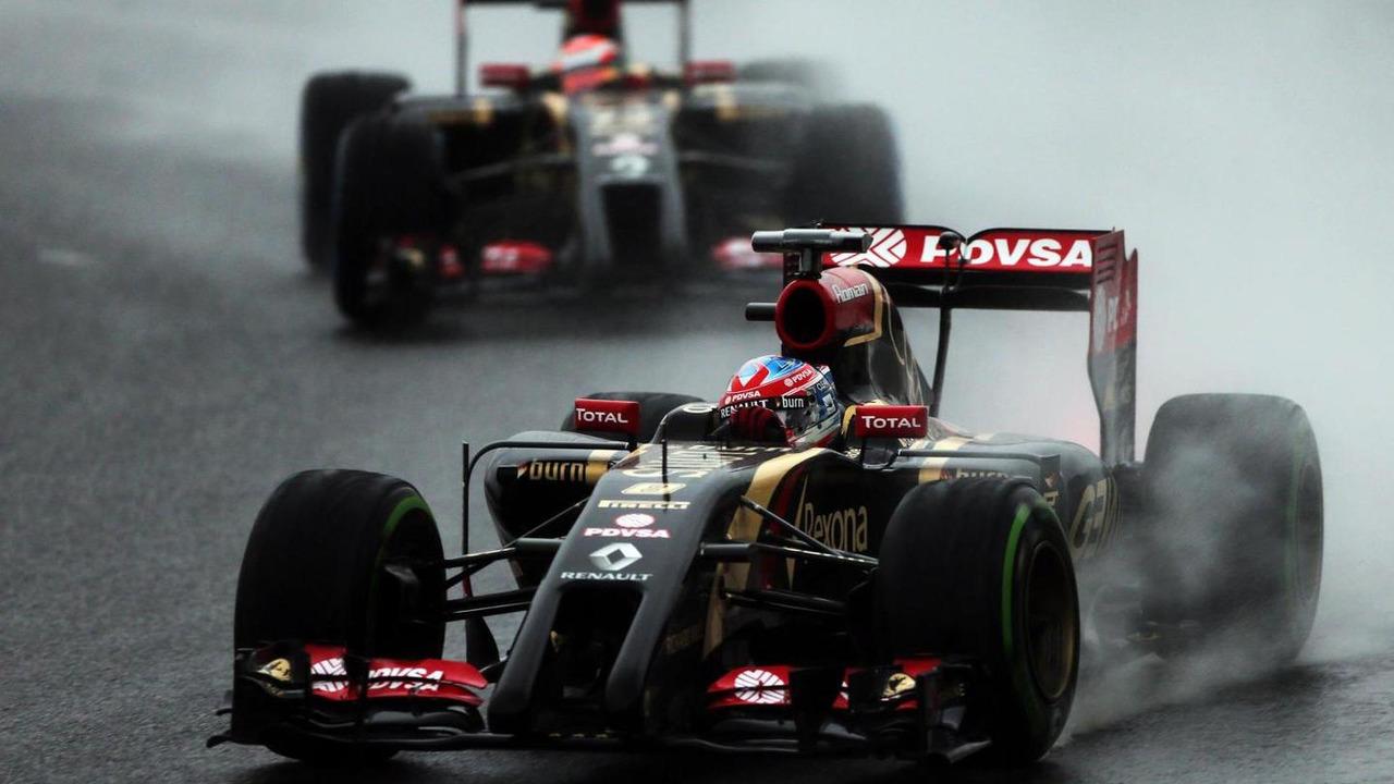 Pastor Maldonado (VEN) leads team mate Romain Grosjean (FRA) / XPB