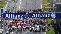 The grid before the start of the race, 22.06.2014, Austrian Grand Prix, Spielberg / XPB
