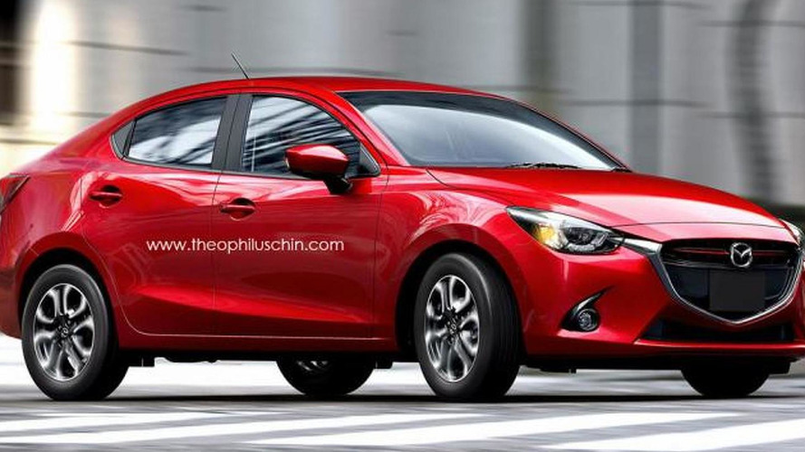 2015 Mazda2 / Demio render shows subcompact sedans can look good