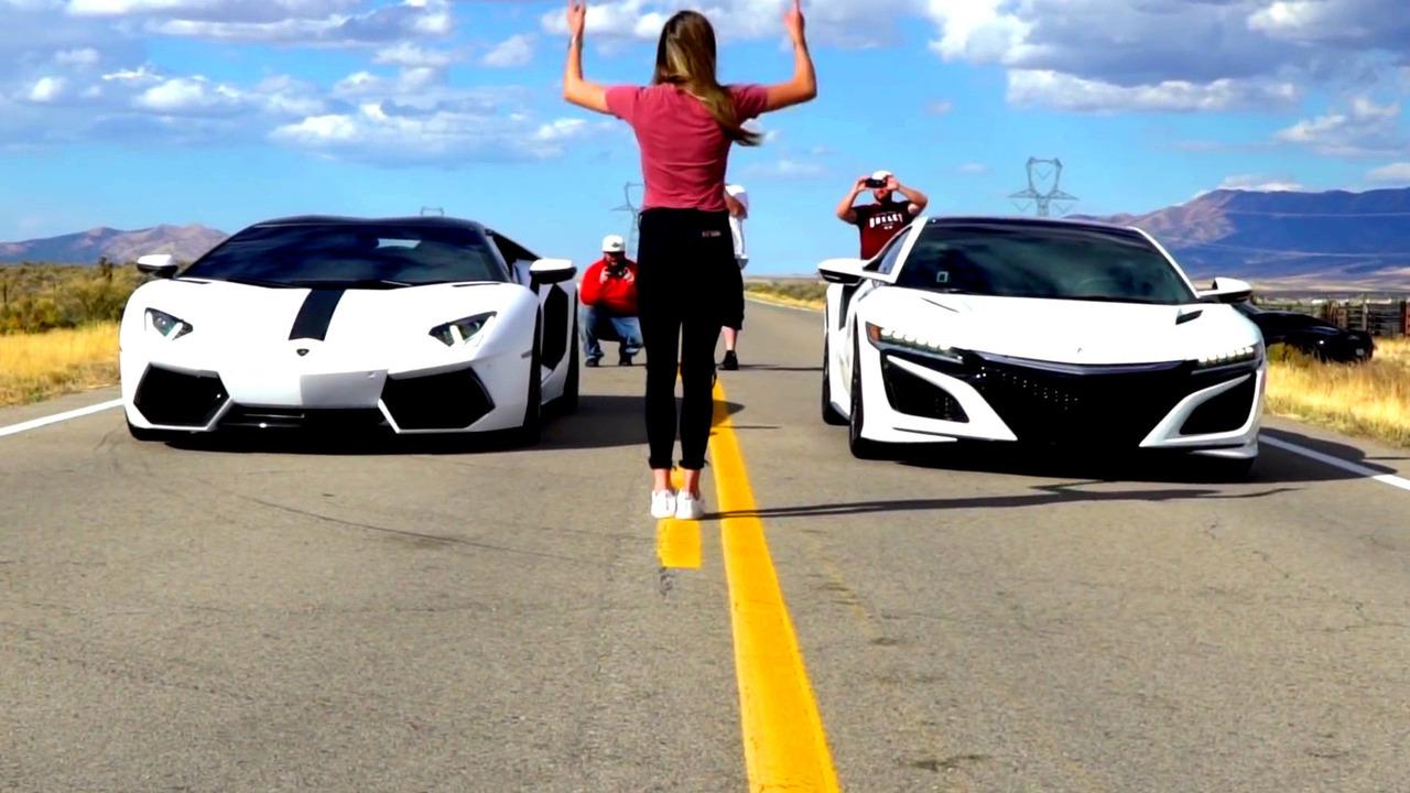 NSX - Aventador yarışı