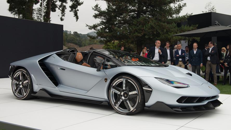 Lamborghini Centenario Roadster ilk kez Monterey'de görücüye çıktı