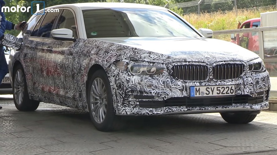 New BMW 5 Series Touring gets refill before 'Ring test