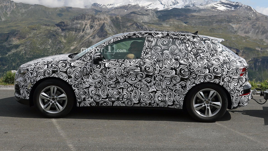 2019 Audi Q3 Test Driver Smiles For The Spy Camera