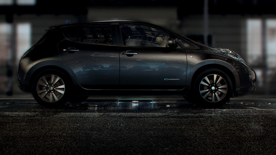 Nissan Fuel Station of the Future is a curbside wireless recharger