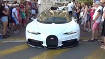Bugatti Chiron Scrapes Pavement In Front Of Spectators
