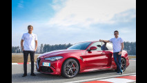 In pista con il pilota F1 Alfa Romeo Sauber su Giulia Quadrifoglio