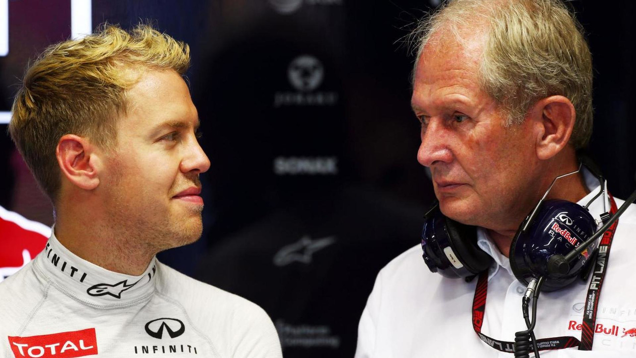 Sebastian Vettel with Dr Helmut Marko 20.09.2013 Singapore Grand Prix