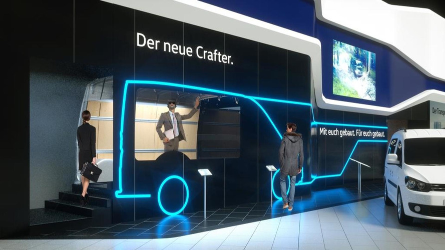 2017 VW Crafter teased via virtual reality display