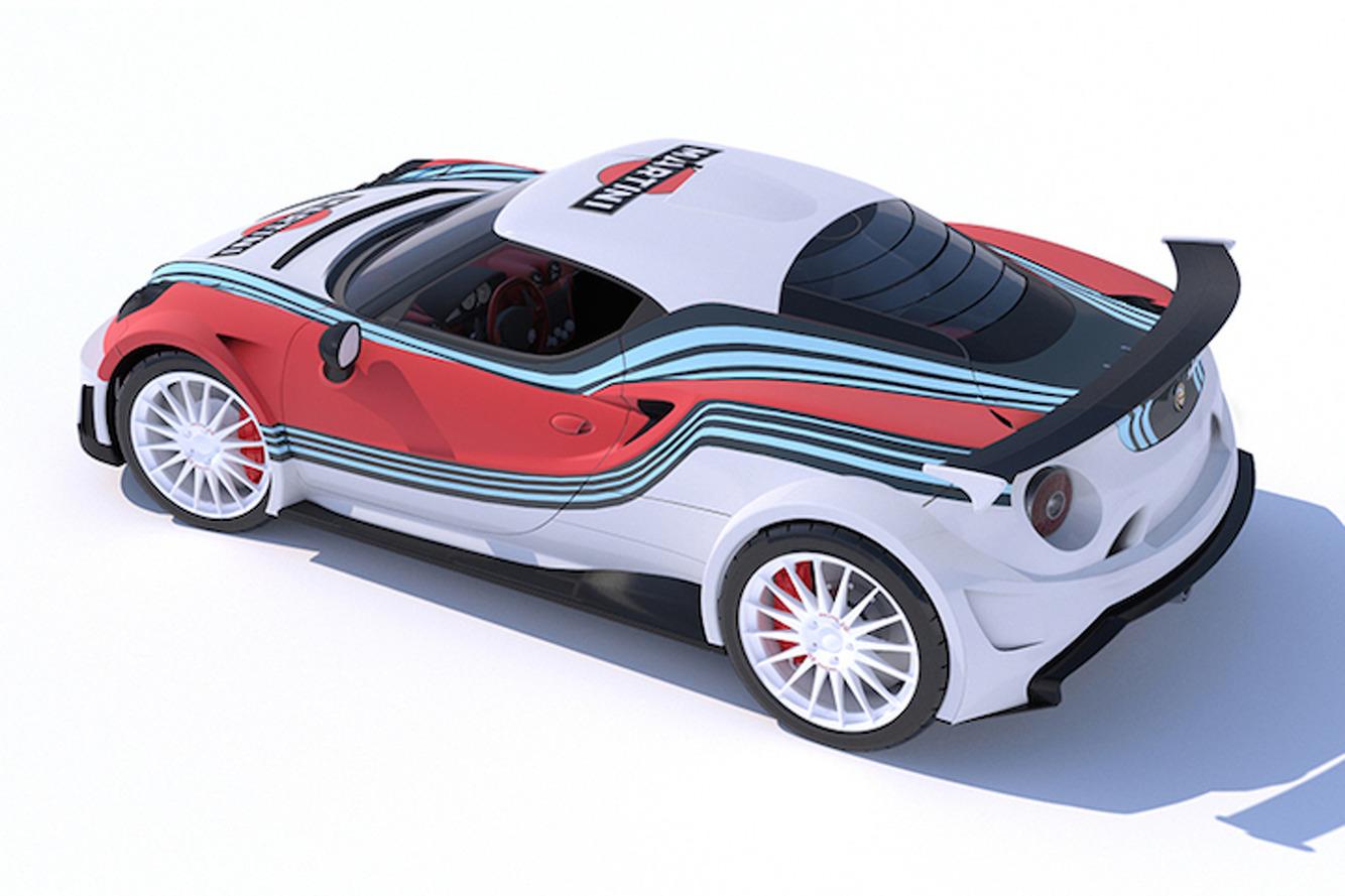 V8 Martini-Liveried Alfa Romeo 4C Makes Other Cars Irrelevant