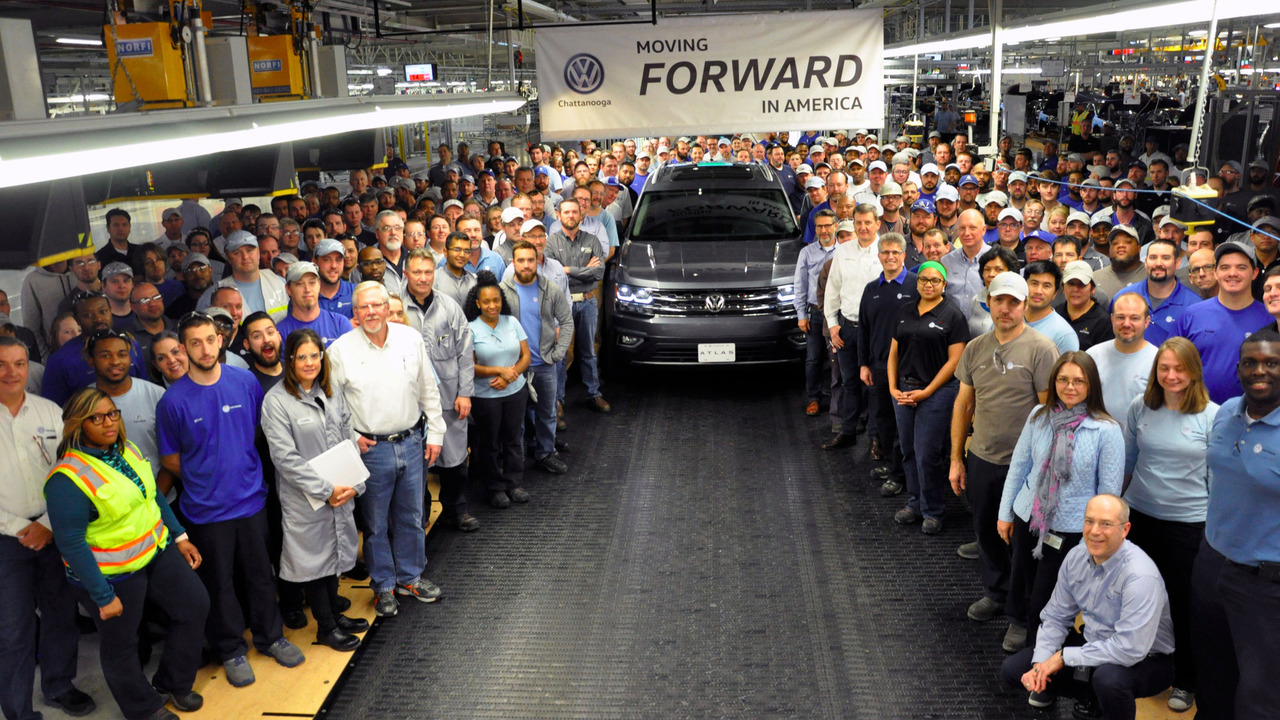VW Atlas production