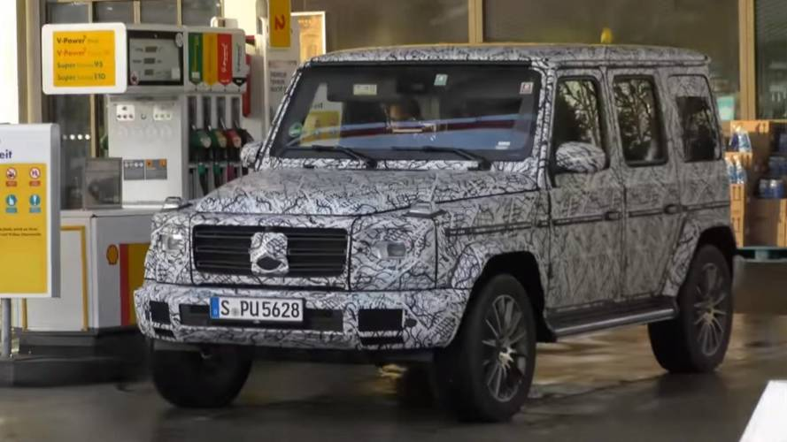 Mercedes G-Class Prototypes Spotted At Gas Station