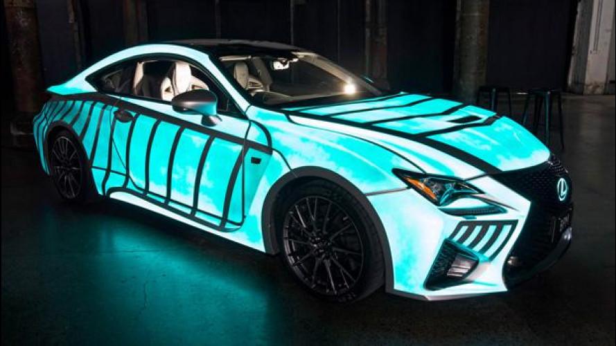 Lexus RC F, l'auto che si illumina con il battito del cuore