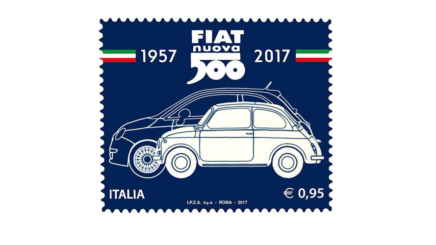 Fiat 500 Celebrates 60th Birthday With Commemorative Stamp