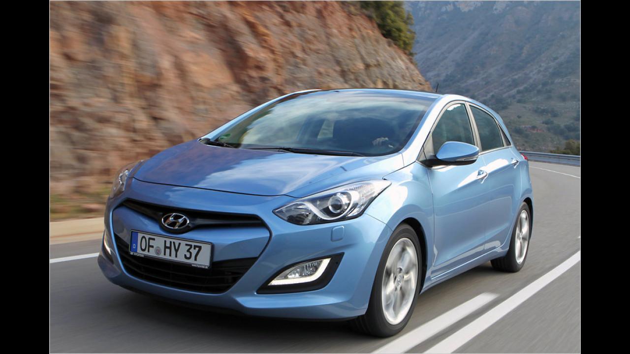 Hyundai i30 blue 1.6 CRDi: + 35,1 Prozent