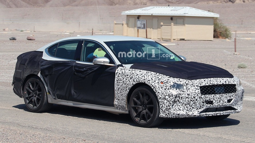 Genesis G70 spied in desert while getting ready to fight BMW 3 Series