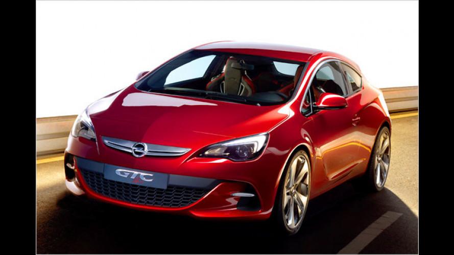 Opel GTC Paris: Erste Bilder vom Astra-Dreitürer