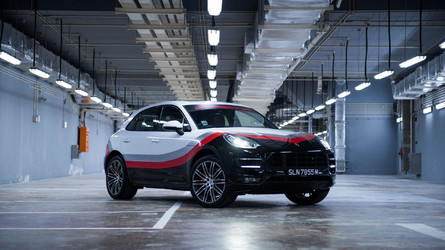 Porsche Macan Turbo Gets Special Race Livery In Singapore
