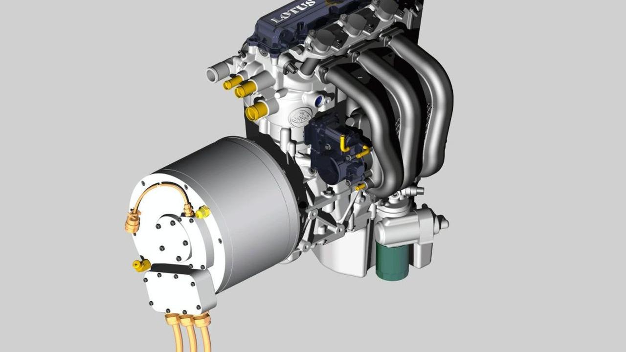 Lotus 1.2-liter Three-Cylinder Range Extender Engine for Hybrids