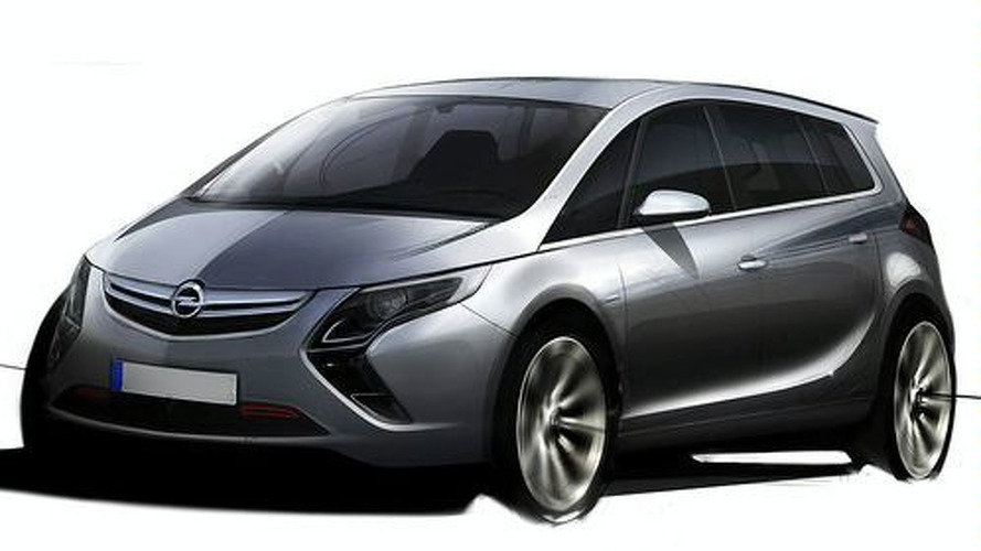 2012 Opel Zafira Sketch Surfaces