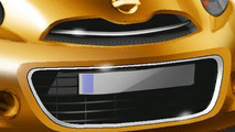 Nissan new global compact car teaser design sketch