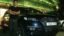 Javier Saviola and his new Audi Q7