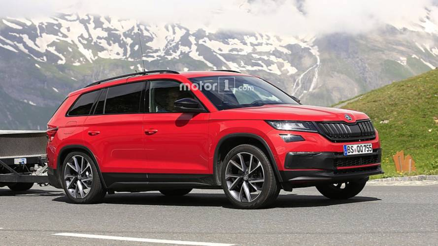 2019 Skoda Kodiaq RS Spied For The First Time; Teased Yet Again