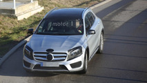 2017 Mercedes GLA facelift returns in new spy photos