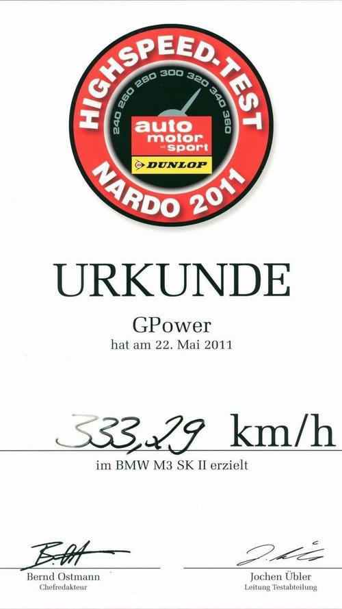 G-POWER M3 SK II reaches 207.10 mph (333.29 km/h) at Nardo [video]