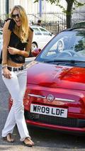 Elle McPherson with Fiat 500C