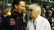 Christian Horner (GBR) with Bernie Ecclestone (GBR) / XPB