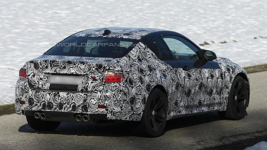 2014 BMW M4 Coupe spy photos show headlamps and taillights for first time