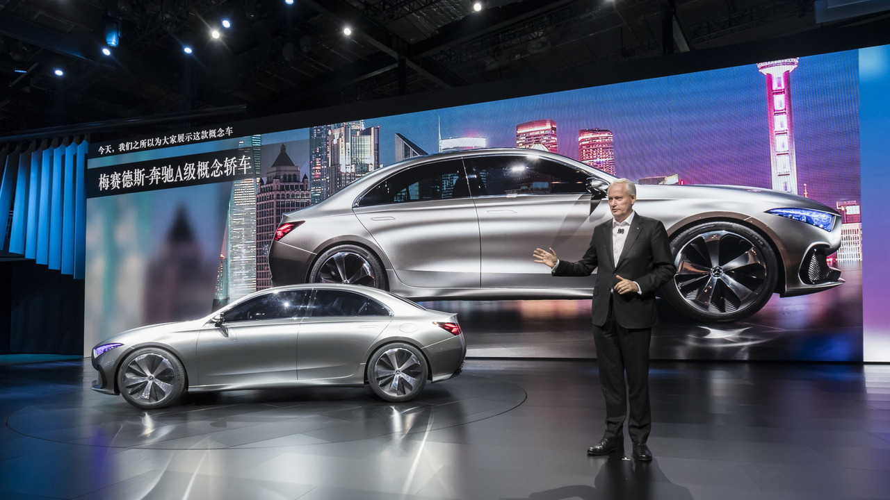 Mercedes concept a sedan shows an attractive future in - Mercedes car show ...