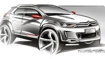 Citroen crossover concept sketch