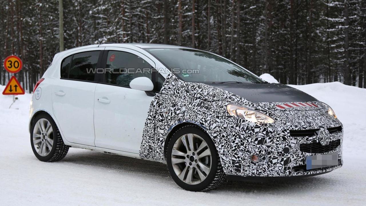 2014 / 2015 Opel Corsa spy photo